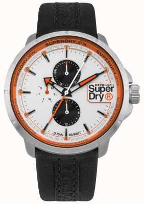 Superdry Kyoto Ranger Black Strap White Dial SYG218WB