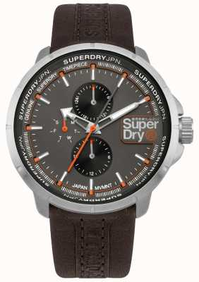 Superdry Kyoto Ranger Brown Strap Grey Dial SYG218T