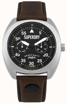 Superdry Scout Aviator Date & Day Display Black Strap SYG229BR