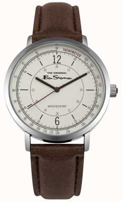Ben Sherman Cream Dial Tachymeter Brown Leather Strap BS006WBR