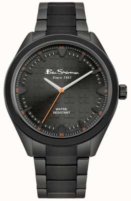 Ben Sherman Black Dial Black IP Coated Stainless Steel Case & Bracelet BS005BBM