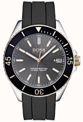 Hugo Boss Ocean Edition Grey Dial Date Display Black Rubber Strap 1513558