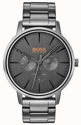 Hugo Boss Orange Men's Copenhagen Day & Date Display Grey Dial IP Coated 1550068