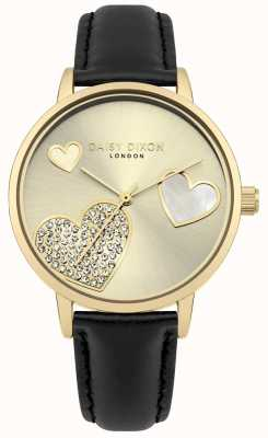 Daisy Dixon Ladies Hollie Gold Case Crystal Set Hearts DD076BG