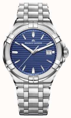 Maurice Lacroix Aikon Mens Stainless Steel Bracelet Blue Dial AI1008-SS002-431-1