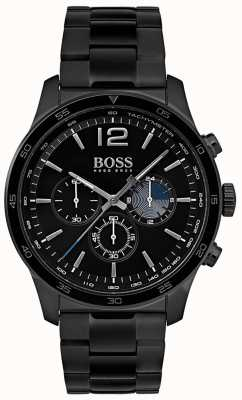 Hugo Boss Mens Professional Chronograph Watch Iron Plated Bracelet 1513528