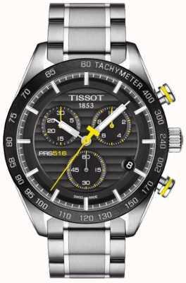 Tissot Mens PRS 516 Chronograph Black Dial Stainless Steel Bracelet T1004171105100