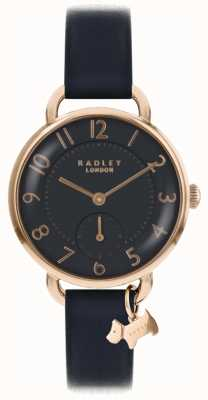 Radley Womens Southwark Park Watch Black Leather Strap RY2548
