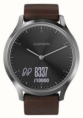 Garmin Vivomove HR Premium Activity Tracker Steel/Leather 010-01850-04