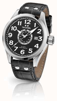 TW Steel Volante 45mm Black Leather Strap Black Dial VS51