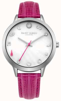 Daisy Dixon Womens Lexi Pink Leather Strap DD078PS