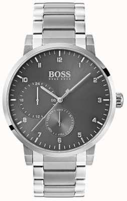 Boss Mens Oxygen Grey Watch Stainless Steel Bracelet Sunray Dial 1513596
