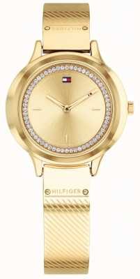 Tommy Hilfiger Women's Olivia Gold Tone Watch 1781910