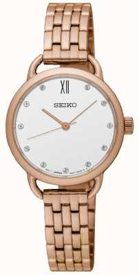 Seiko Womens Recraft Rose Gold Tone Bracelet SUR698P1