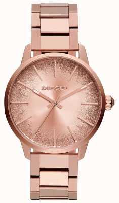 Diesel Womens Castilla Rose Gold Tone Bracelet Glitter Dial Watch DZ5567