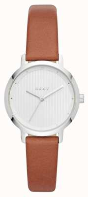 DKNY Womens The Modernist Watch Brown Leather Strap NY2676