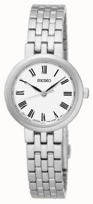 Seiko White Dial Roman Numerals Stainless Steel Bracelet SRZ461P1