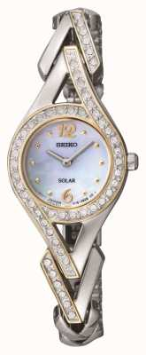 Seiko Women's Cocktail Crystal Set Mother Of Pearl Dial SUP174P9