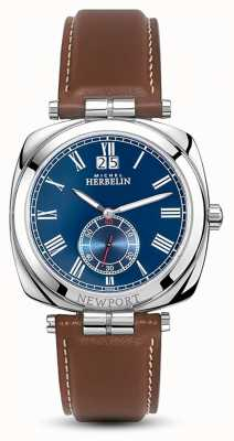 Michel Herbelin Men's Stainless Steel Newport Cushion Shape Strap 18264/AP05GO