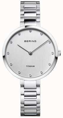Bering Crystal Set Titanium Case And Bracelet 11334-770