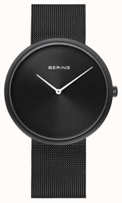 Bering Classic Matte Black Dial Black Mesh Strap 14339-222