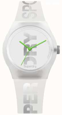 Superdry Women's White Silicone Case & Strap Lime Green Hands SYL189WE
