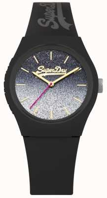 Superdry Women's Glitter Dial Black Silicone Case & Strap SYL179B