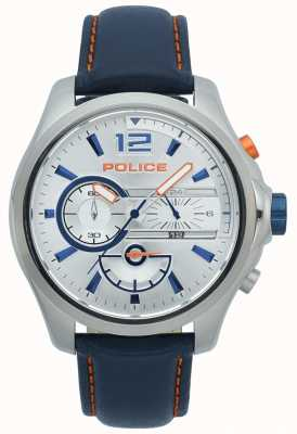 Police Men's Denver Chronograph Stainless Steel Case Leather Strap 15403JS/04