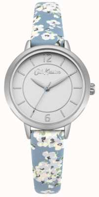 Cath Kidston Women's Floral Print Leather Strap Silver Stainless Steel CKL046US