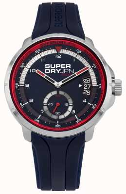 Superdry Men's Date Display Blue Dial Blue Silicone Strap SYG217U