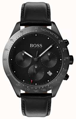 Hugo Boss Talent Chronograph Black Dial Date Display Black Leather 1513590