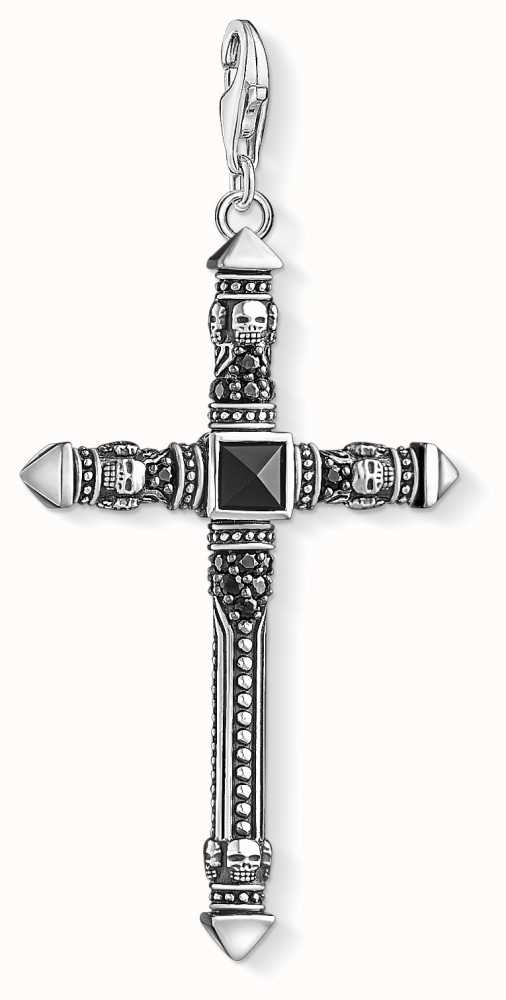 Thomas Sabo Charm pendant cross black Y0019-508-11 Thomas Sabo KvT1Pd