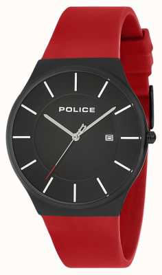Police Mens New Horizon Watch Silicone Strap Red 15045JBCB/02PB