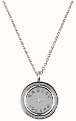 Radley Jewellery Love Radley Silver Radley Logo Spin Locket Necklace RYJ2017