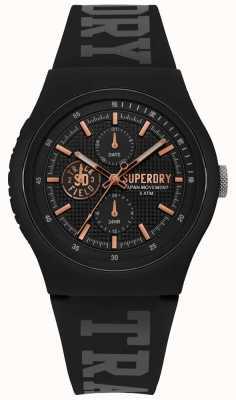 Superdry Urban XL Black Silicone Strap SYG188BRG