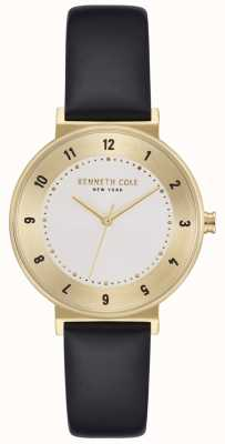 Kenneth Cole Womens Classic Silver Dial Leather Strap Watch KC50075002