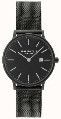 Kenneth Cole Womens Black Case And Dial With Date Display And Black Mesh KC15057004
