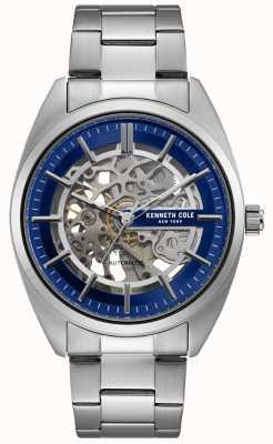 Kenneth Cole Mens Skeleton Dial Stainless Steel Bracelet Watch KC50064003