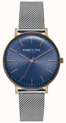 Kenneth Cole Dark Blue Dial Stainless Steel Mesh Watch KC15183003