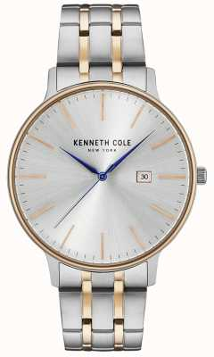 Kenneth Cole Silver And Rose-Gold Stainless Steel Watch KC15095003