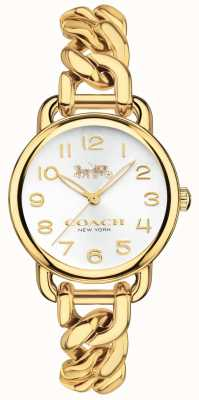 Coach Womens Delancey Gold Plated Watch 14502801