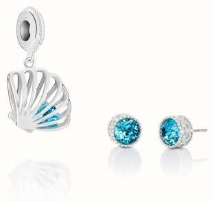 Chamilia Shell Charm And Earring Set 8050-0004