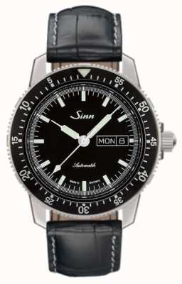Sinn 104 St Sa I Classic Pilot Watch Alligator Embossed Leather 104.010 EMBOSSED LEATHER