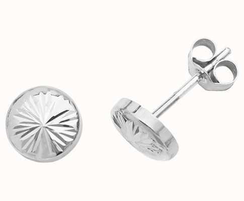 Treasure House 9k White Gold Stud Earrings ES540W