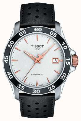 Tissot Mens V8 Swissmatic T-sport Black Leather Strap T1064072603100