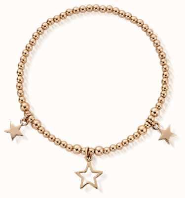 ChloBo Gold Plated Triple Star Bracelet RBSB801