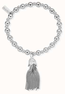 ChloBo Sterling Silver Mini Small Ball Tassel Bracelet SBMSB933