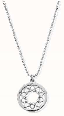 ChloBo Sterling Silver Diamond Cut Chain With Heart Mandala SCDC1468