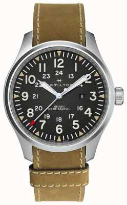 Hamilton Khaki Field Mechanical 50mm Brown Leather Strap H69819530