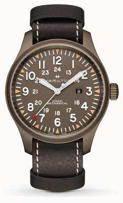 Hamilton Khaki Field Mechanical 50mm Black Leather Strap H69829560